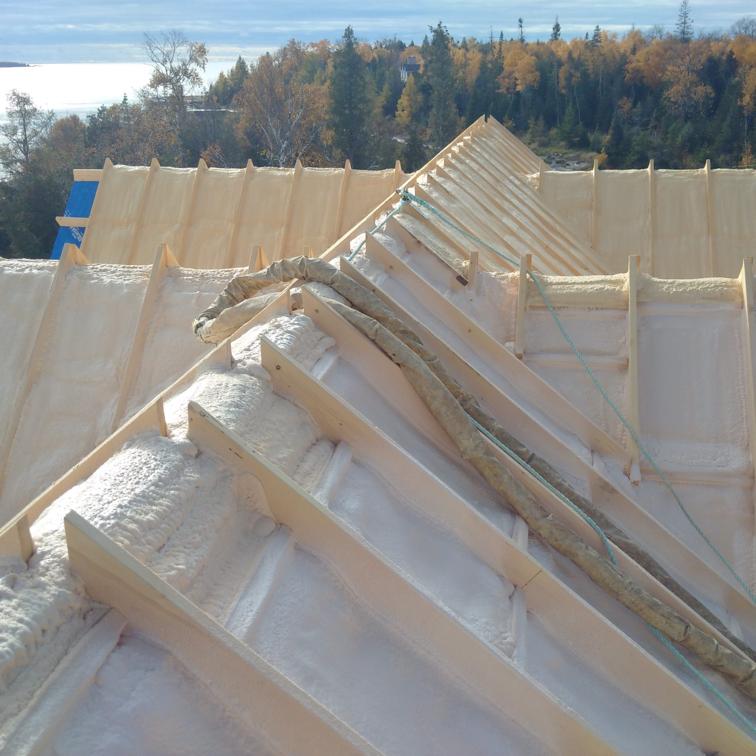 cottage timber frame roof insulated from top